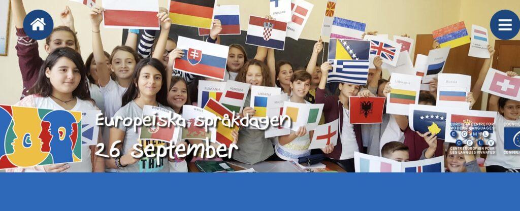 Barn på internationella språkdagen