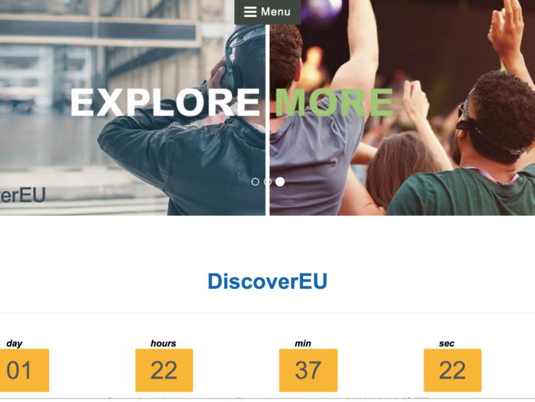 Är du född 2001 och vill upptäcka Europa?
