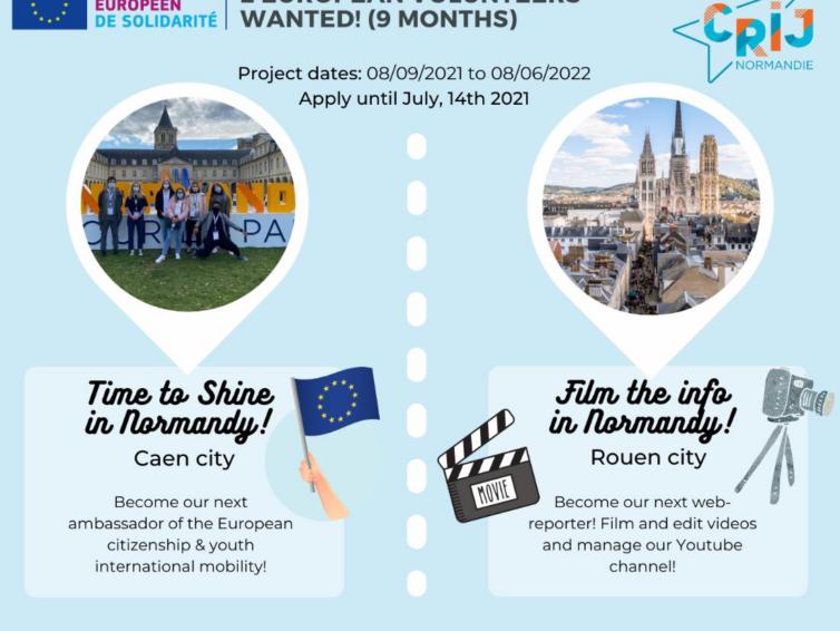 Vill du bli volontär-ambassadör eller web-reporter i Normandie till hösten?